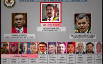 Estados Unidos acusó de narcoterrorismo a Nicolás Maduro y ofreció USD 15 millones por datos que lleven a su arresto